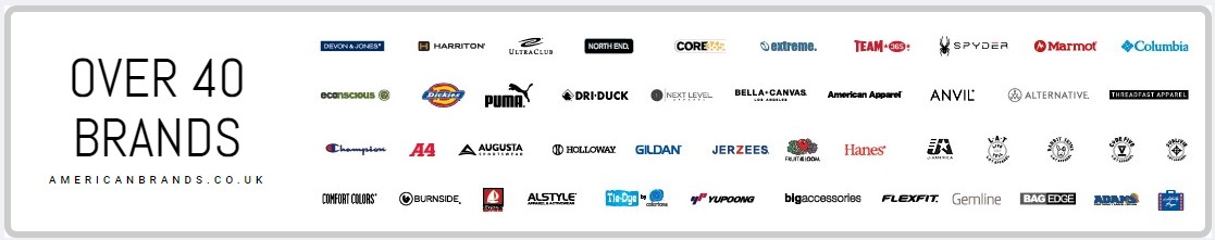 Over 40 brands from the USA!